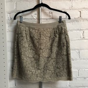 JCrew Lace Skirt with Pockets!